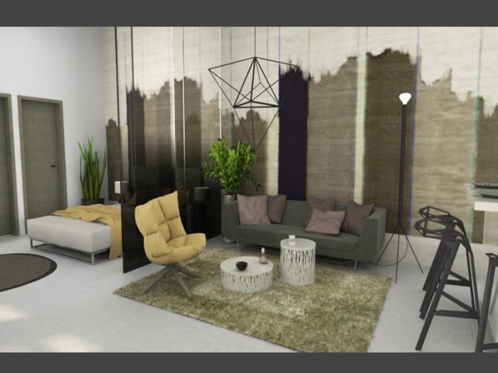 Interior minimalista no Bp. distrito VI.