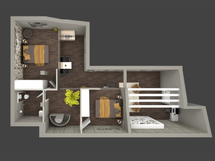 Luxory  apartment in brasilian style